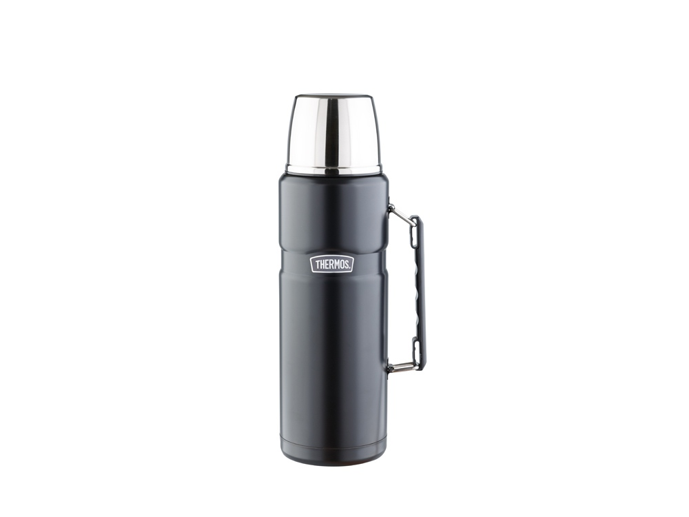 Термос со стальной колбой тм THERMOS SK2020 Matte Black King Stainless Steel Vacuum Flask. 2.0L, черный