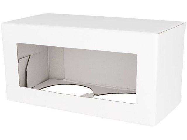 Подарочная коробка для кружек (для 2 керамических предметов), белый