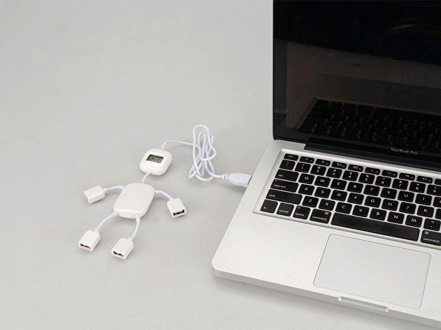 USB Hub на 4 порта с часами в виде человечка