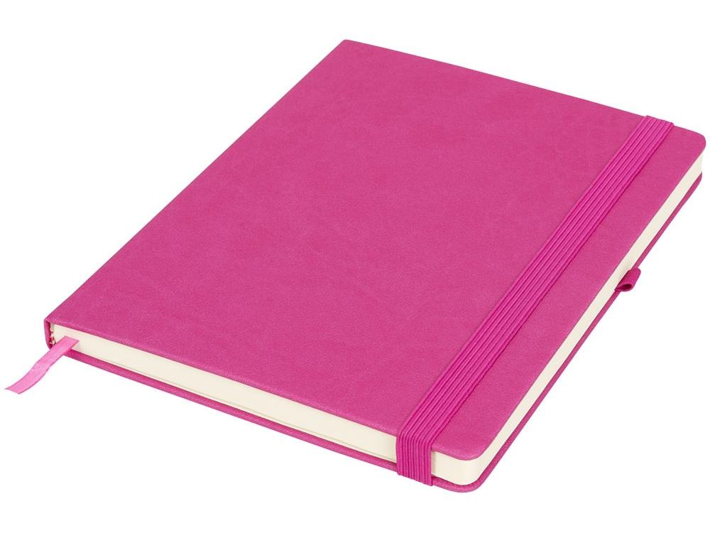 Блокнот Rivista большого размера, розовый