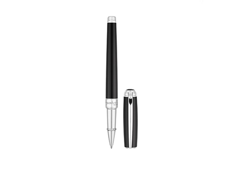Ручка роллер Line D Medium, черный/серебристый