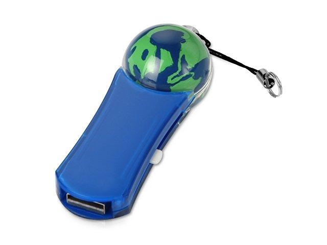 Флеш-карта USB 2.0 на 4 Gb с плавающей мини-фигурой земного шара