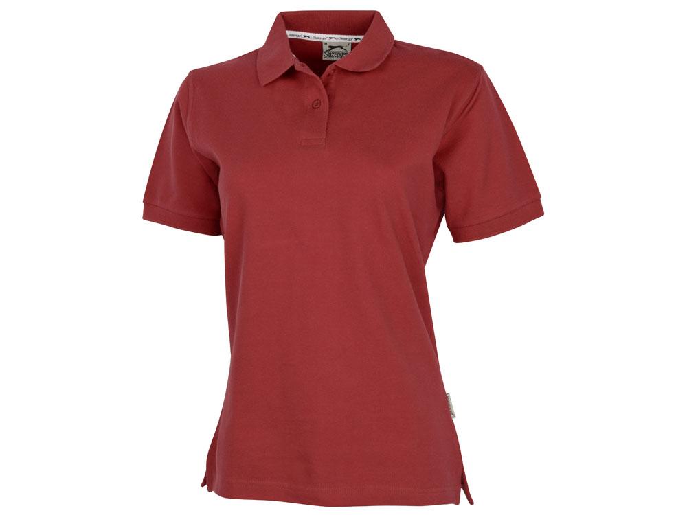 Рубашка поло Forehand женская, темно-красный