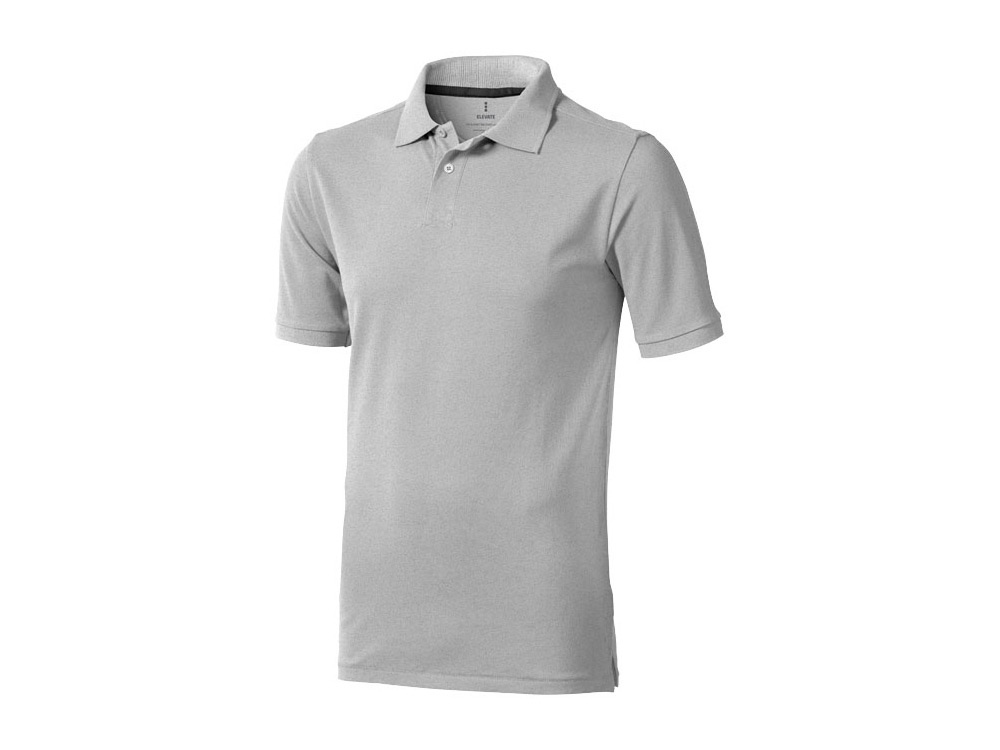 Рубашка поло Calgary мужская, серый меланж