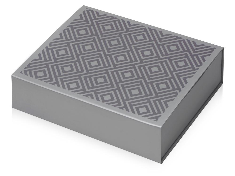 Подарочная коробка Giftbox средняя, серебристый