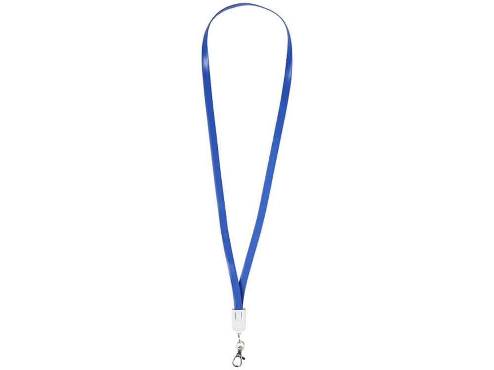 Зарядный кабель-клип 2 в 1, ярко-синий