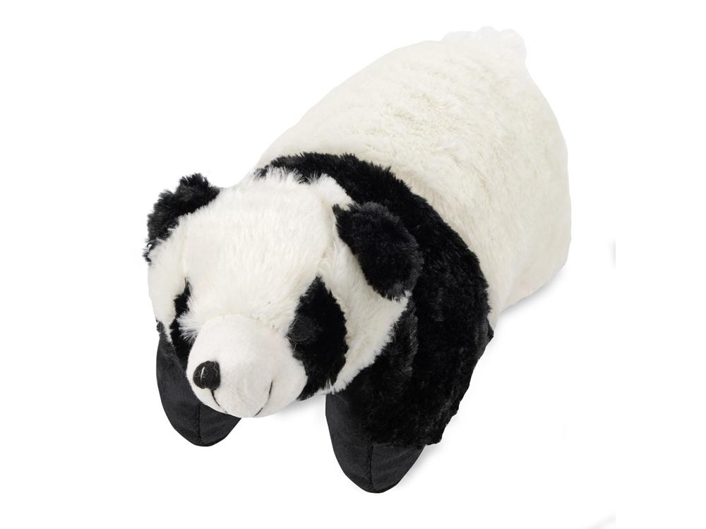 Подушка под голову Панда. С помощью липучки превращается в мягкую игрушку