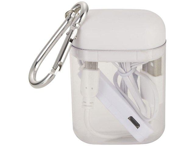 Наушники с функцией Bluetooth® с чехлом с карабином, белый
