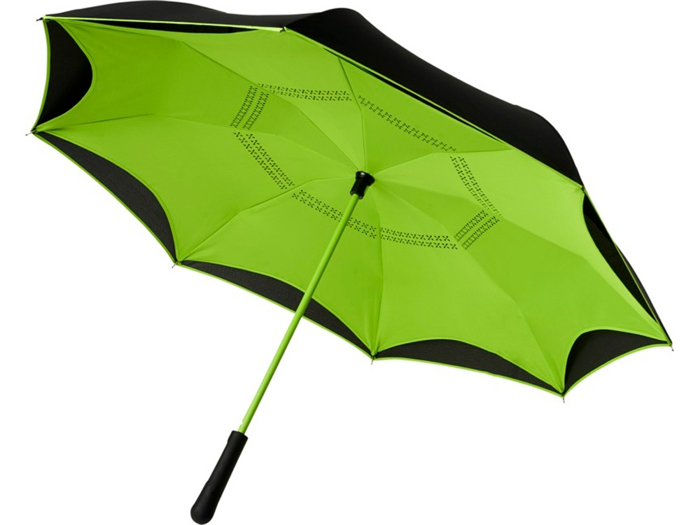 Прямой зонтик Yoon 23 с инверсной раскраской, лайм