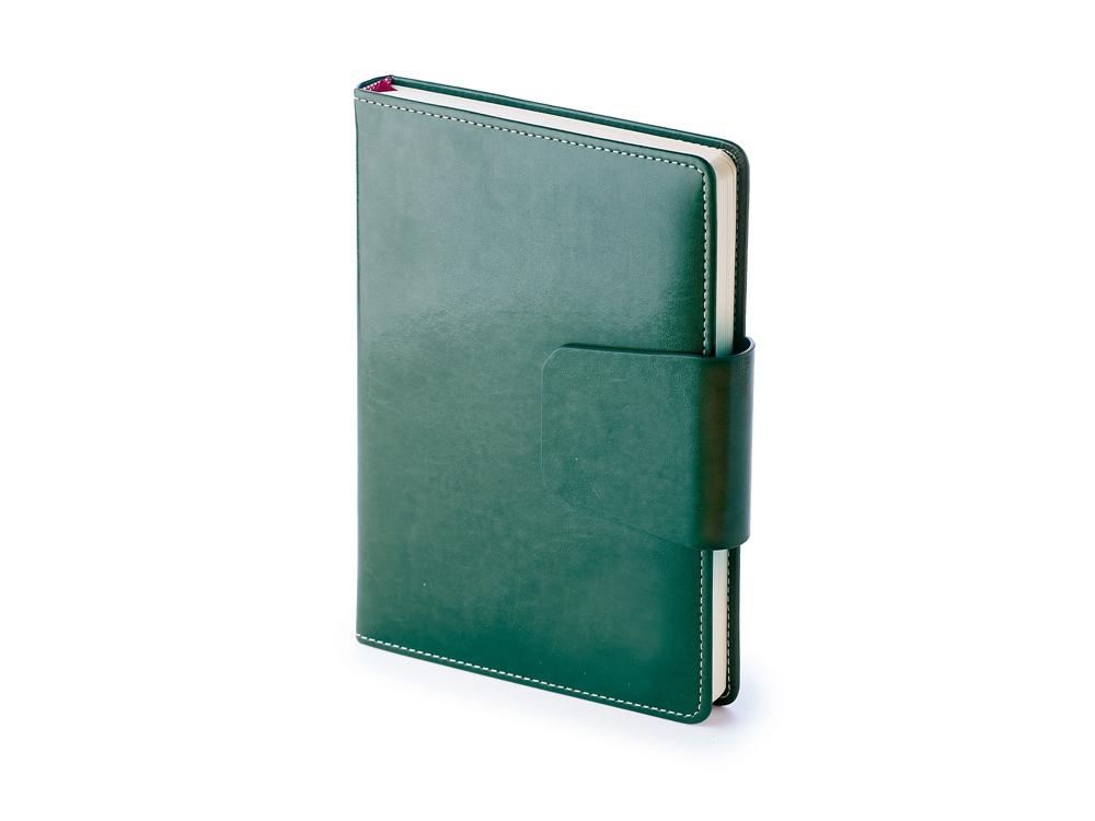 Ежедневник А5 недатированный Prestige, зеленый