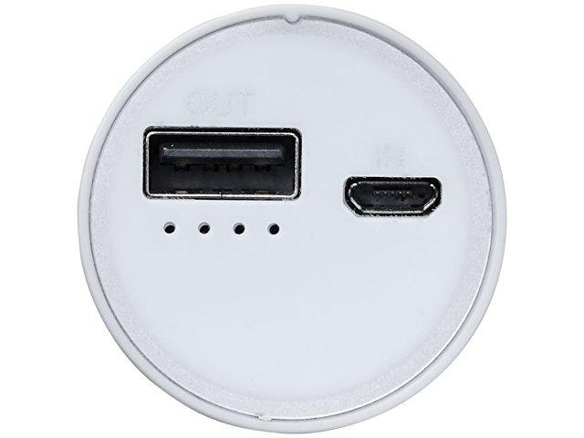 Портативное зарядное устройство «Bliz», 6000 mAh с кабелем 2-в-1, черный
