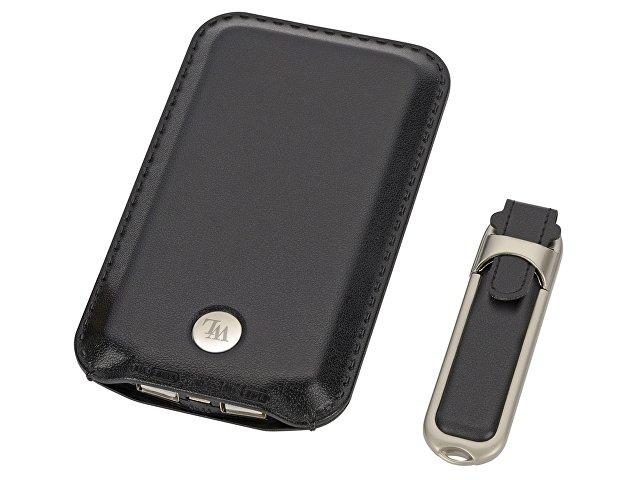 Набор: портативное зарядное устройство, флеш-карта на 8 Гб