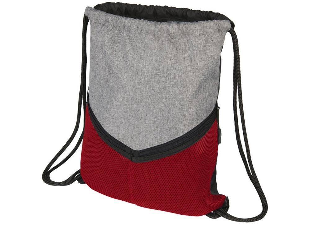 Спортивный рюкзак-мешок, серый/красный