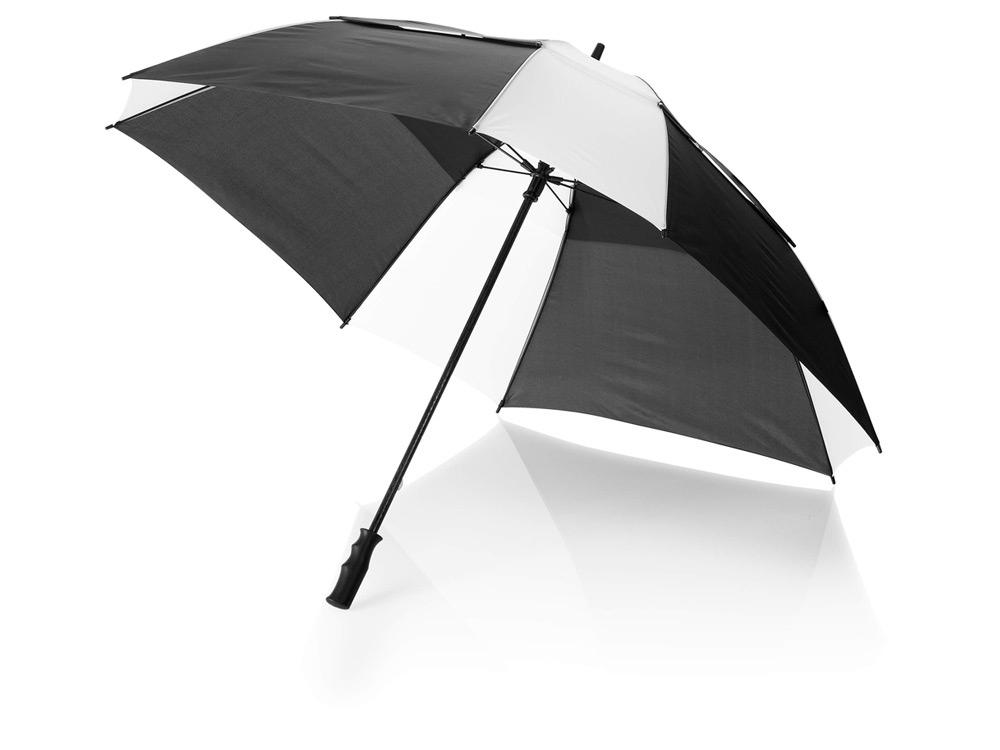 Зонт трость Helen, механический 30, черный/белый