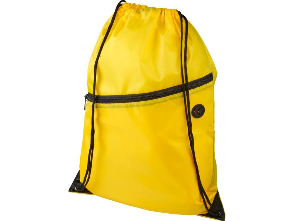 Рюкзак Oriole на молнии со шнурком, желтый