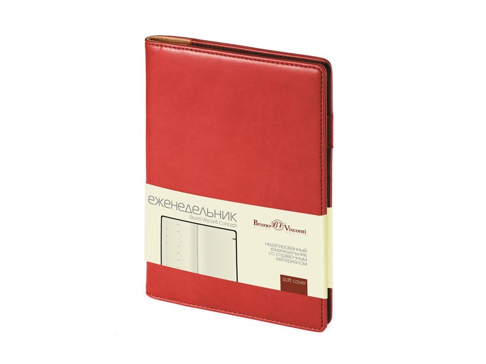 Еженедельник недатированный А5 Concept, бордовый