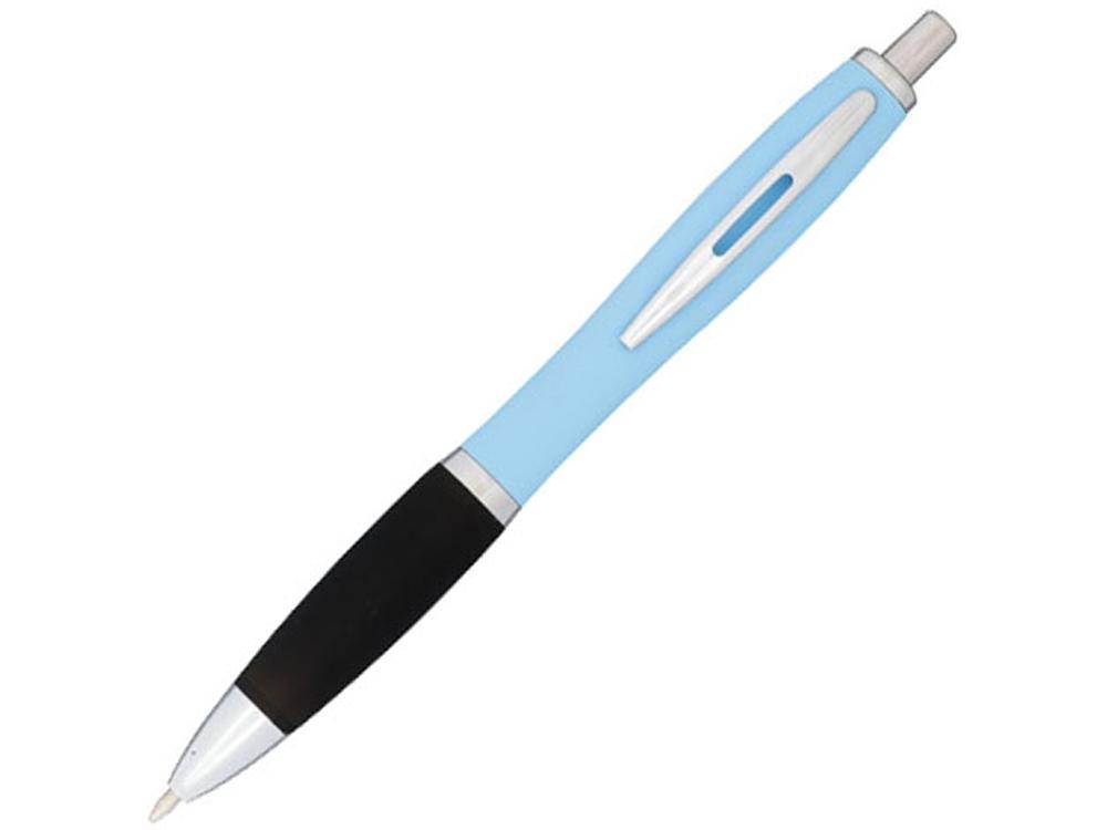 Прорезиненная шариковая ручка Nash, голубой