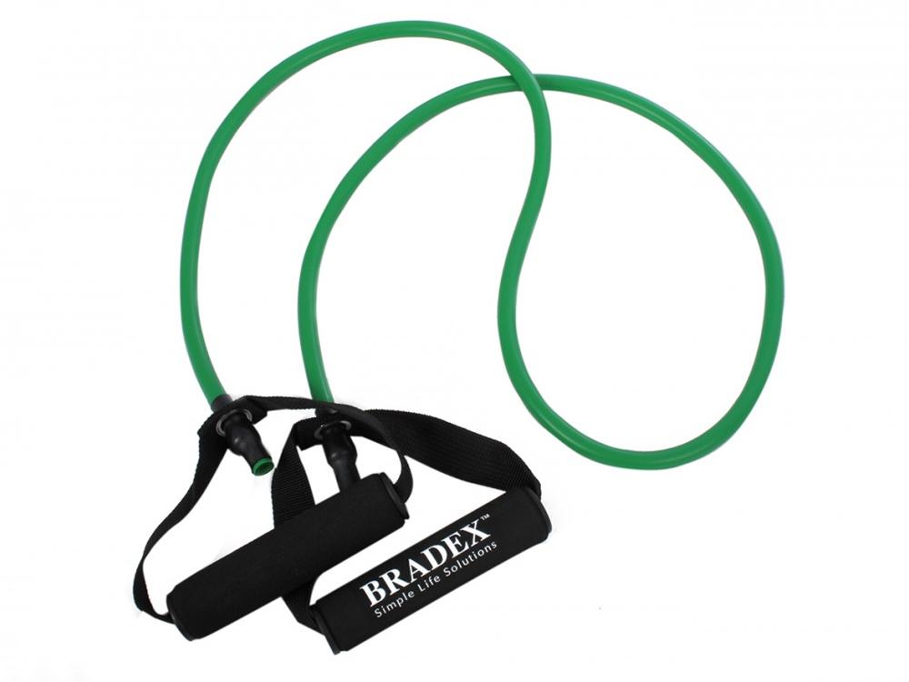 Эспандер трубчатый с ручками, нагрузка до 11 кг, зеленый