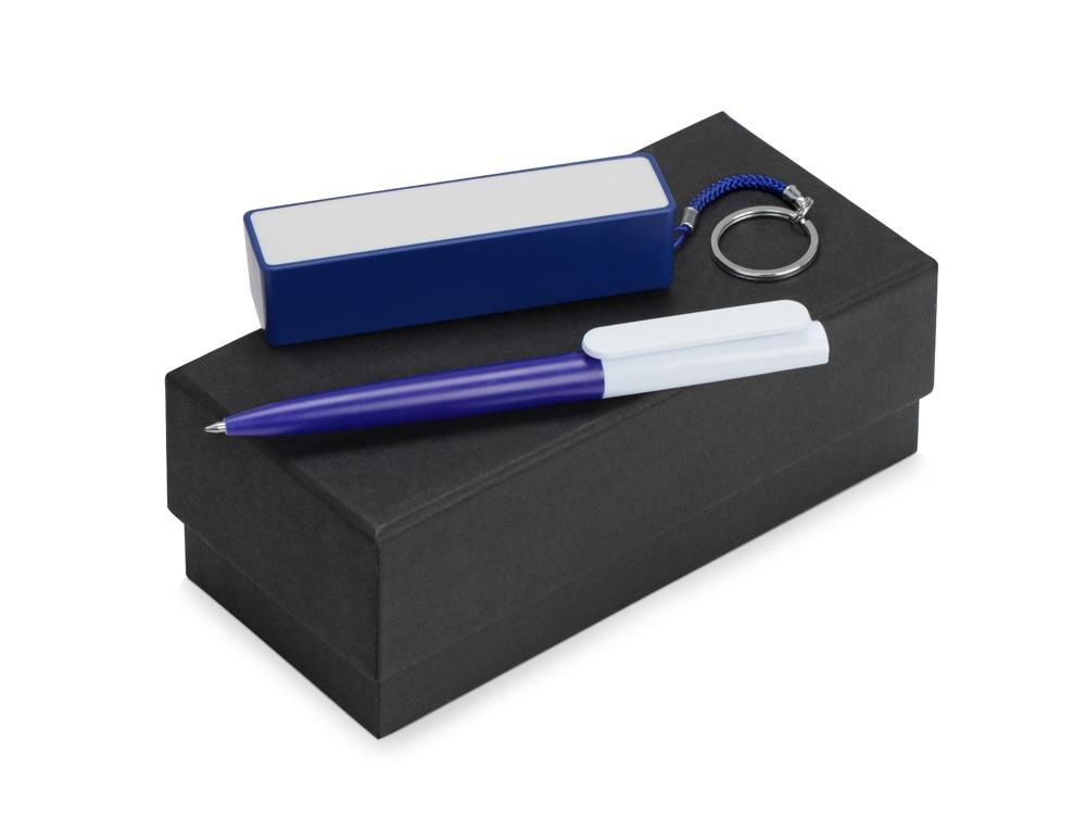 Подарочный набор Essentials Umbo с ручкой и зарядным устройством, синий
