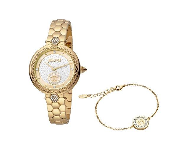 Подарочный набор: часы наручные женские, браслет (арт. 60004)