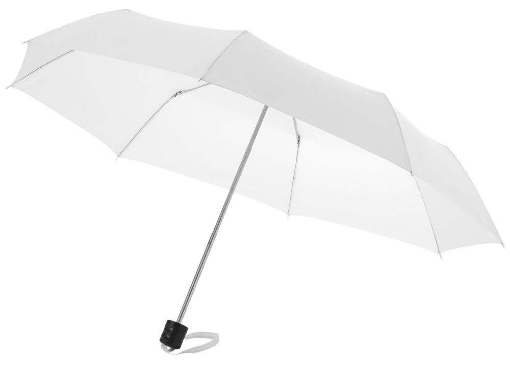 Зонт Ida трехсекционный 21,5, белый
