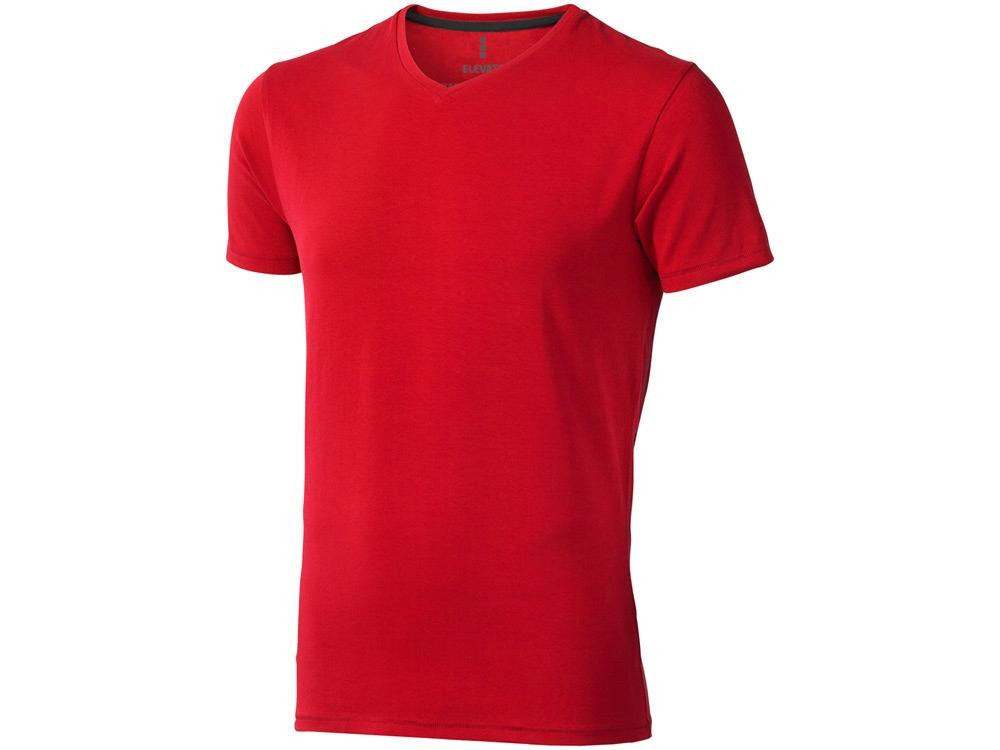 Футболка Kawartha мужская с V-образным вырезом, красный