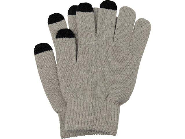 Перчатки для сенсорного экрана, серый, размер S/M