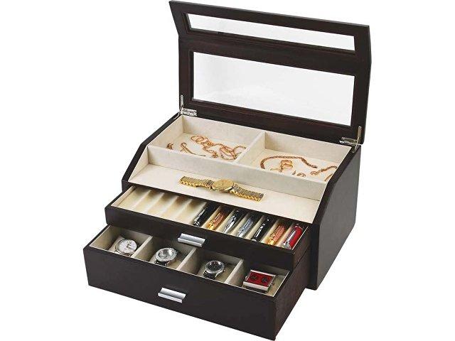 Шкатулка для хранения часов и ручек «Базель», черный