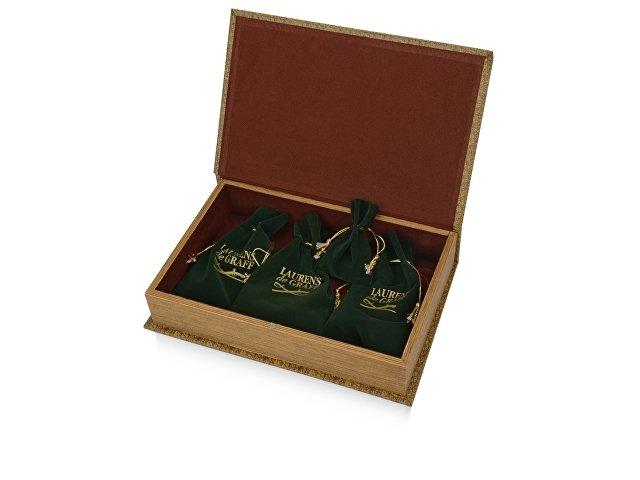 Набор: портмоне, визитница, подставка для часов, часы на цепочке «Фрегат» Laurens de Graff