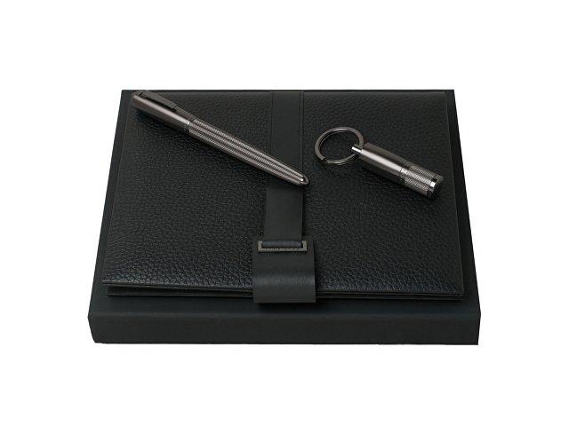 Подарочный набор: USB-флешка на 16 Гб, блокнот А5, ручка-роллер. Hugo Boss