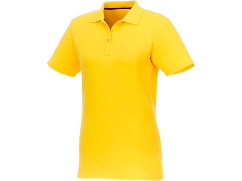 Женское поло Helios с коротким рукавом, желтый