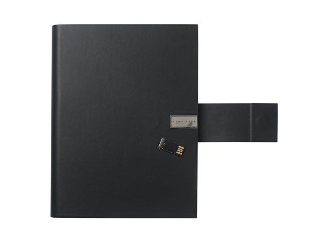 Папка А5 Loop Black с USB-флешкой на 16 Гб