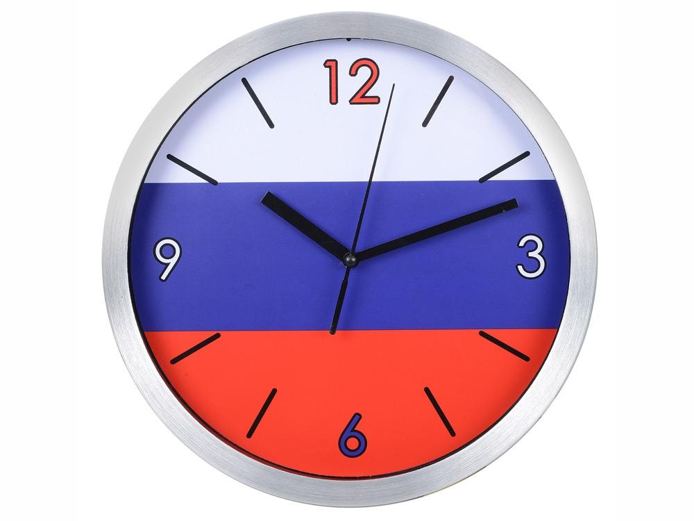 Часы настенные Российский флаг