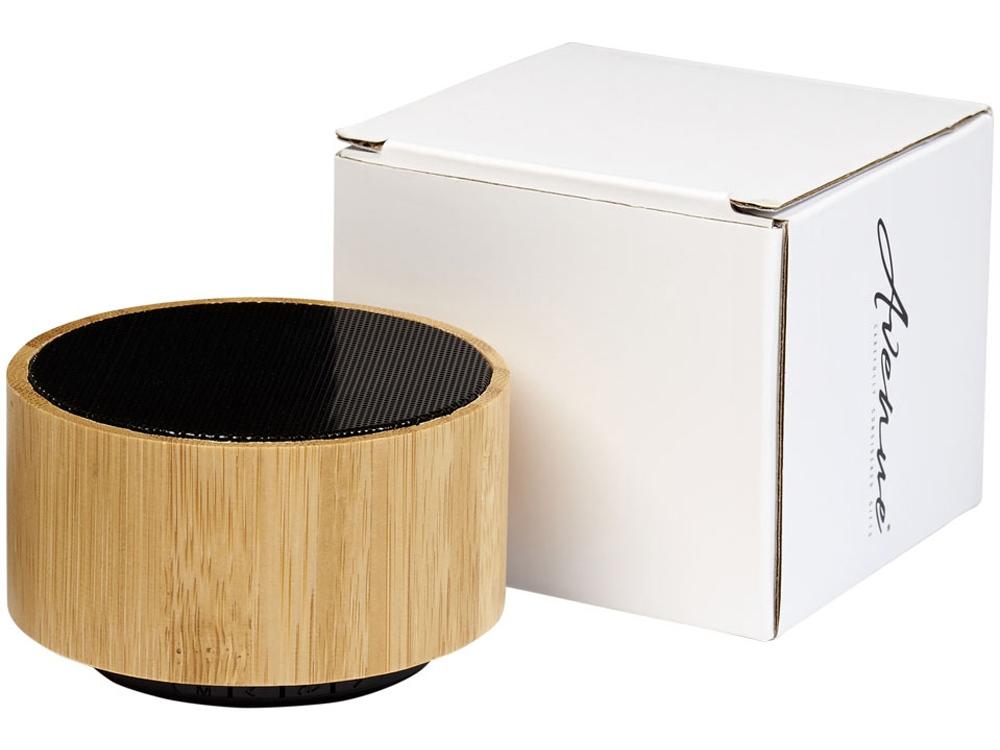 Бамбуковый Bluetooth®динамик Cosmos, черный