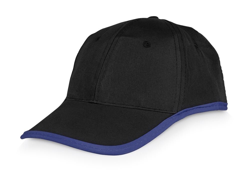 Бейсболка Solo, черный/синий