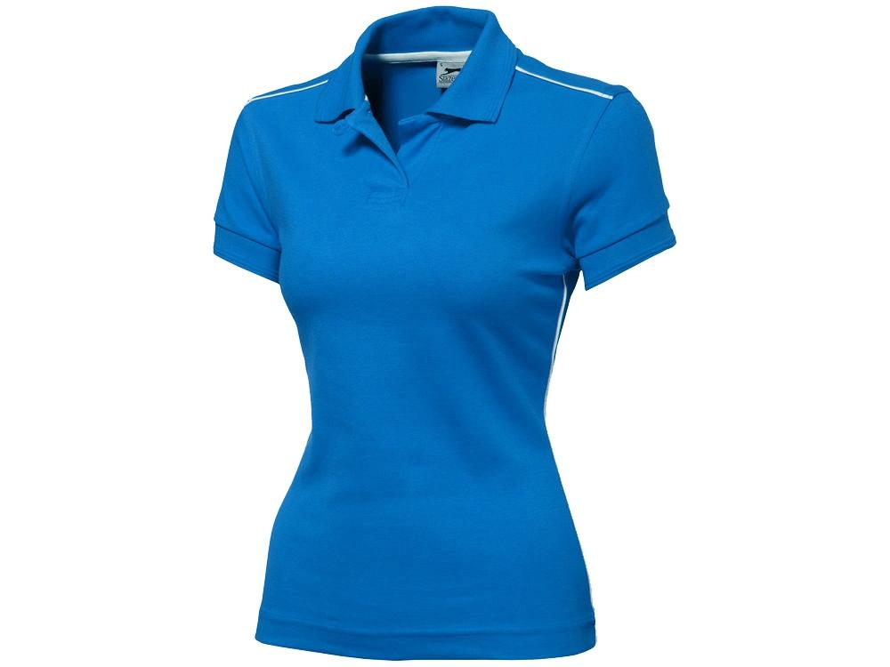 Рубашка поло Backhand женская, небесно-синий/белый