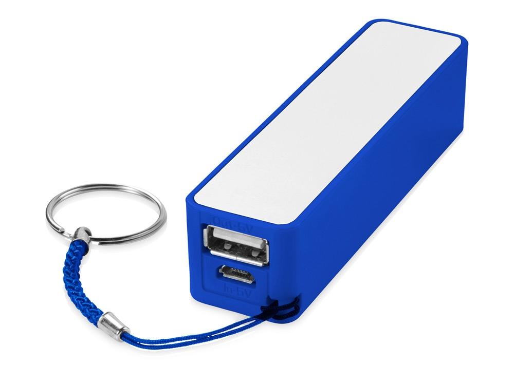 Портативное зарядное устройство Jive, ярко-синий/белый