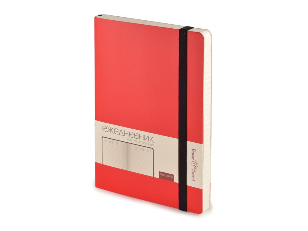 Ежедневник недатированный А5 Vincent, красный