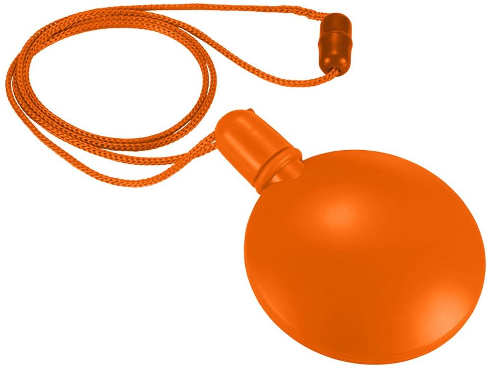 Круглый диспенсер для мыльных пузырей, оранжевый