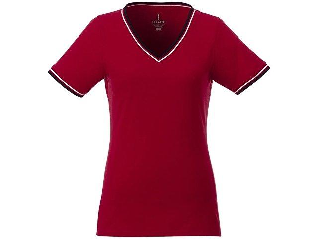 Женская футболка Elbert с коротким рукавом, красный/темно-синий/белый