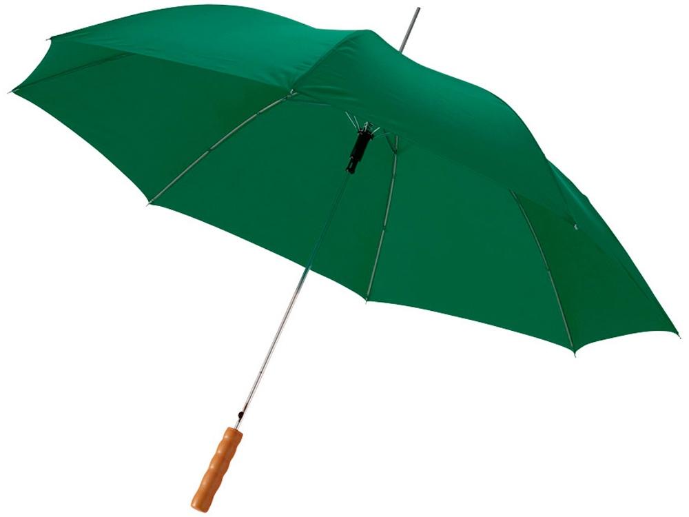 Зонт-трость Lisa полуавтомат 23, зеленый