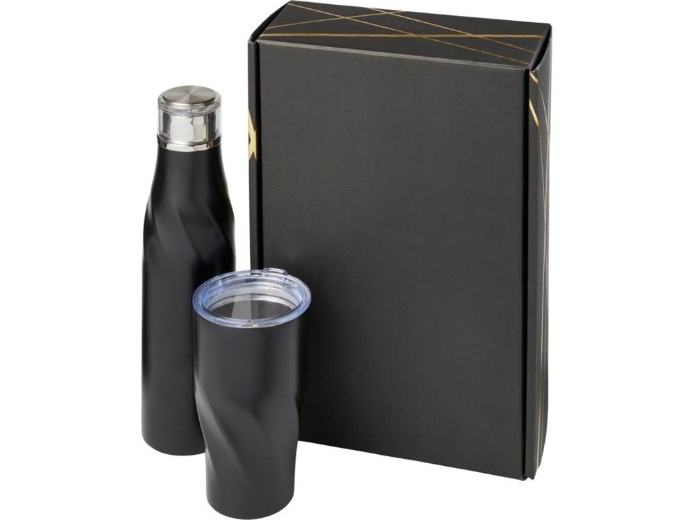 Подарочный набор Hugo из медных предметов с вакуумной изоляцией, черный