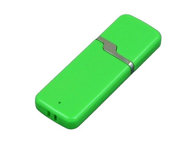 Флешка промо прямоугольной формы c оригинальным колпачком, 16 Гб, зеленый