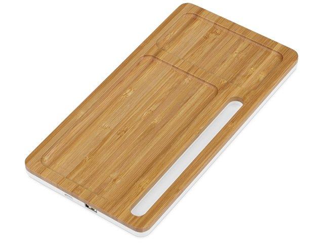 Беспроводное зарядное устройство-органайзер из бамбука «Timber»