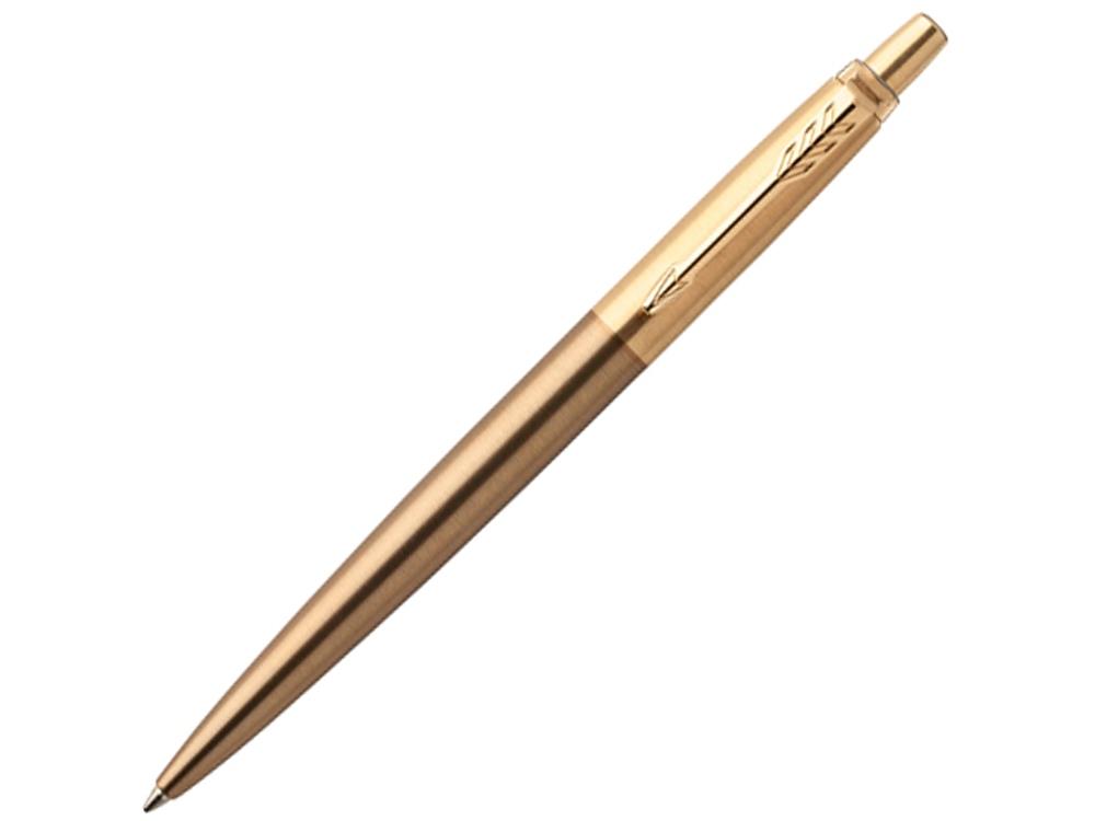 Шариковая ручка Parker Jotter Premium West End Gold Brushed GT, коричневый/золотистый