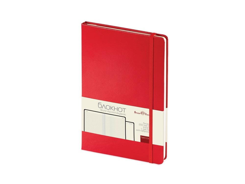 Блокнот А5 Megapolis Journal, красный