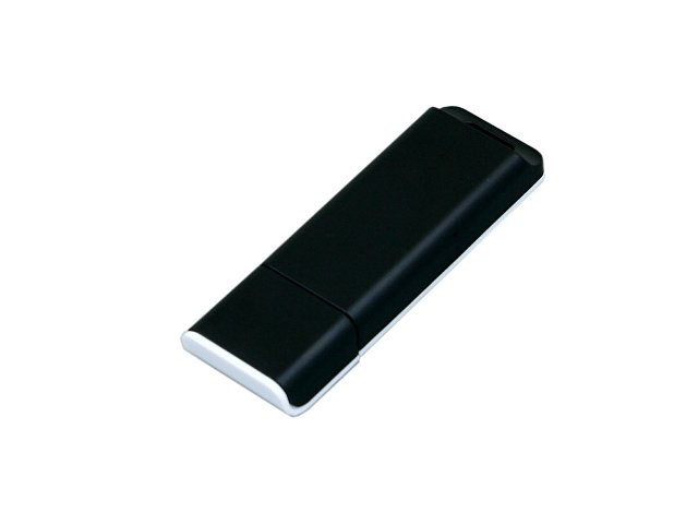 Флешка прямоугольной формы, оригинальный дизайн, двухцветный корпус, 32 Гб, черный/белый