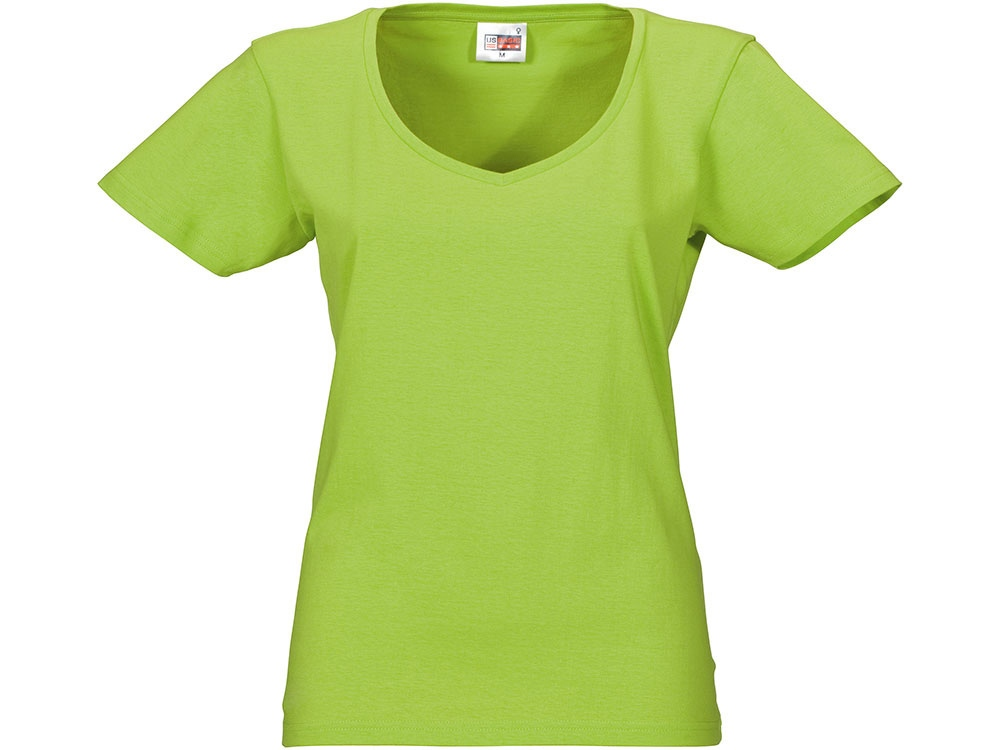 Футболка Heavy Super Club женская с V-образным вырезом, зеленое яблоко