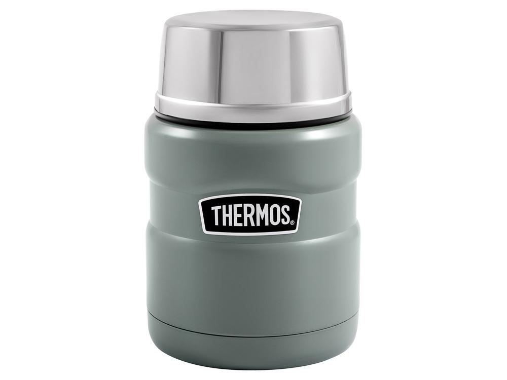 Термос из нерж. стали с ложкой тм THERMOS SK3000-MGR 0,47 L, зеленый