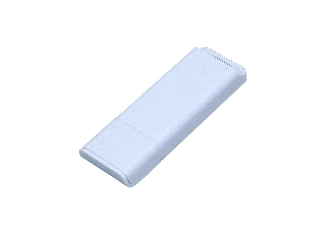 Флешка прямоугольной формы, оригинальный дизайн, двухцветный корпус, 32 Гб, белый